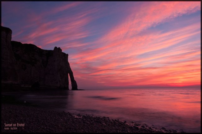 Sunset on Etretat